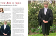 PSQB pupil Shannon Woodley writes in the Middle Templar magazine image