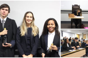 Ellie Mitten judges the final of the University of Leeds Regional Mooting competition image